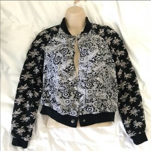 XS- Free People floral button up jacket